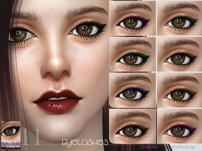 sims 4 custom content eyelashes